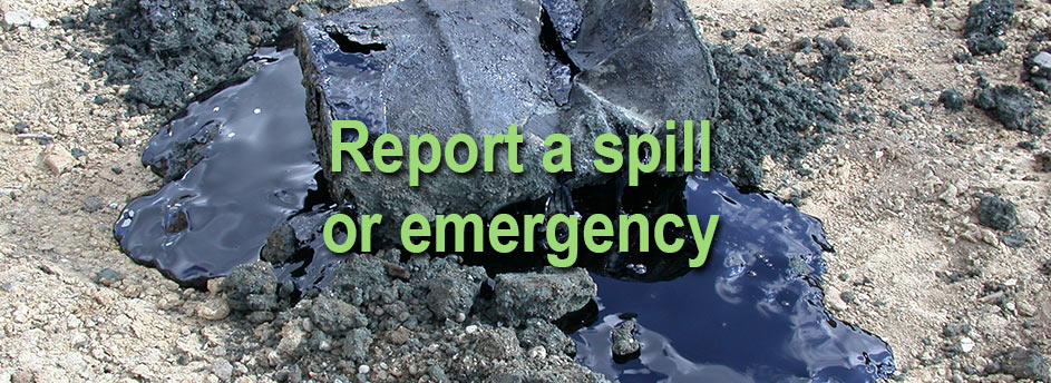 South Island Environmental Report a spill or emergency